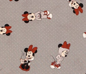 Tela Minnie Mouse gris